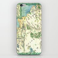 middle earth iPhone & iPod Skins featuring Middle Earth map by Ioreth