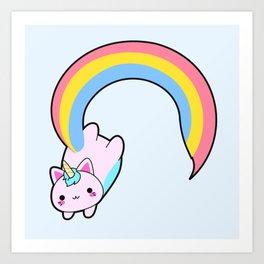Kawaii proud rainbow cattycorn Art Print