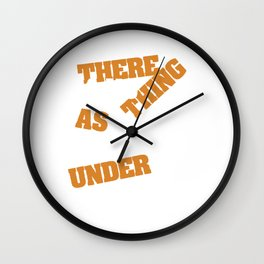 """A nice typography """"There is No Such Thing As Keeping Under Control"""" Manage Command Government  Wall Clock"""