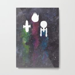 Three Space Ships Metal Print