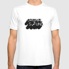 Original Sound SMALL White Mens Fitted Tee