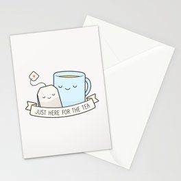 Just Here For The Tea Stationery Cards