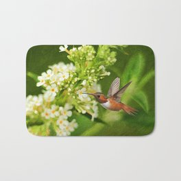 The Hummer and the Butterfly Bush Bath Mat