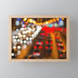 Highly defocused night freeway scene Framed Mini Art Print