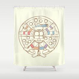 Vitruvian Turtle Shower Curtain