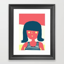 Self-portrait Waiting for Summer Framed Art Print