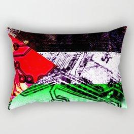 circuit board gaza strip (flag) Rectangular Pillow