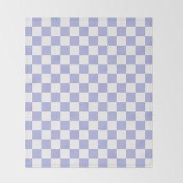 Gingham Soft Lavender Blush Checked Pattern Throw Blanket