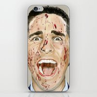 american psycho iPhone & iPod Skins featuring American Psycho by JackyAttacky