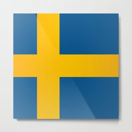 Flag of Sweden Metal Print