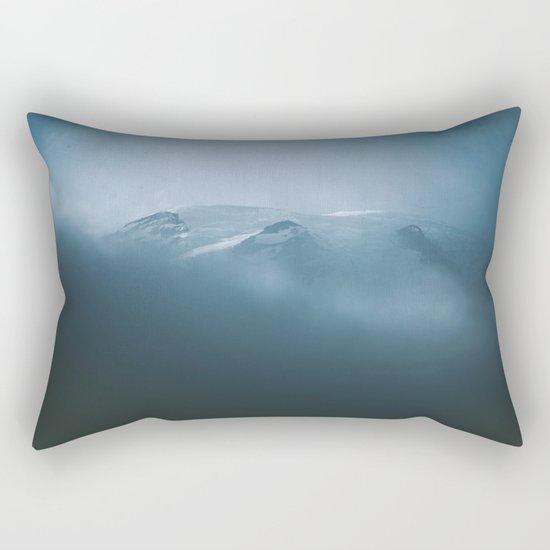 Cloudy Mount Rainier Rectangular Pillow