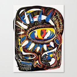 The Third Eye Primitive African Art Graffiti Canvas Print