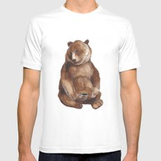 Brother Bear MEDIUM Mens Fitted Tee White