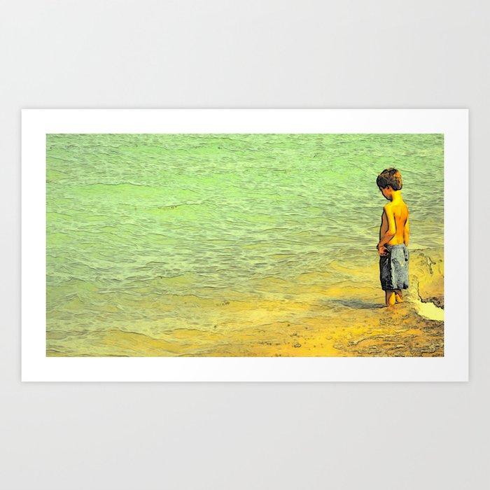 Boy & Sea Art Print