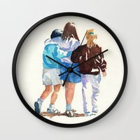 best friends Wall Clocks featuring Best Friends by MadDog