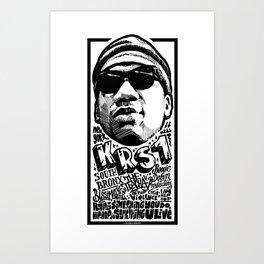Mr.KRS1 / Rapper's Delight Art Print