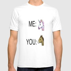 Unicorn fever Mens Fitted Tee White SMALL