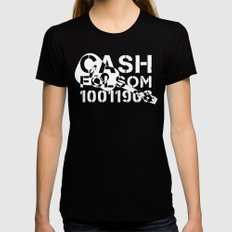 Cash X-LARGE Black Womens Fitted Tee