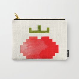 Geometric Watercolor Tomato Carry-All Pouch