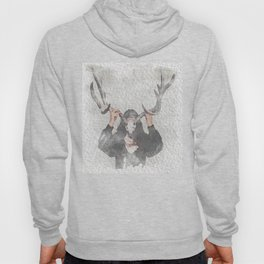 The Girl with Antlers Hoody