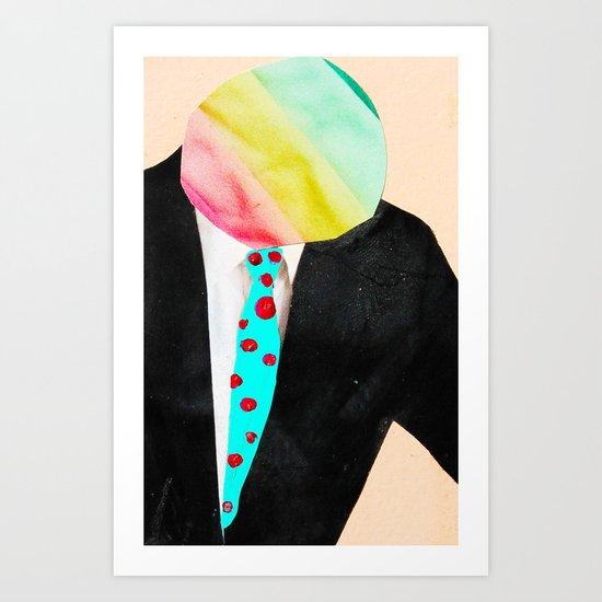 Rainbow Head Art Print