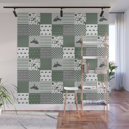 Snake House cheater quilt patchwork wizarding witches and wizards Wall Mural