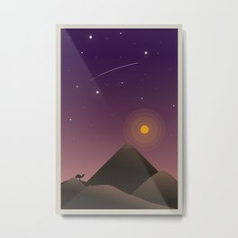 Desert at Dusk Poster Metal Print