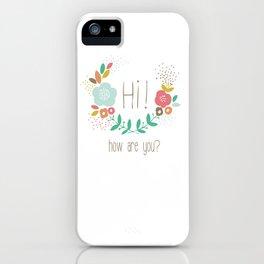 Flower crown iPhone Case