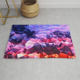 Triangles and Pyramids rising to the sky Rug