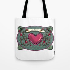 love  and heart Tote Bag