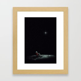 Space Chill Framed Art Print