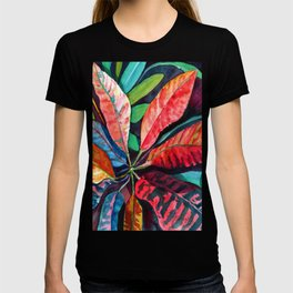 Colorful Tropical Leaves 2 T-shirt