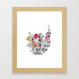 rose bush Framed Art Print