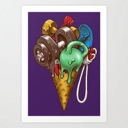 Ice Cream Workout Art Print