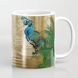 Golden Royal Peacock Temple Dreams Coffee Mug