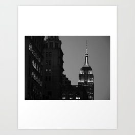 Look up New York 9 Art Print