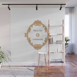 Press for champagne artwork Wall Mural