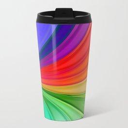 Abstract Rainbow Background Travel Mug
