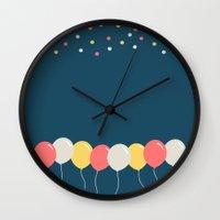 baloon Wall Clocks featuring Baloon by ARIS8