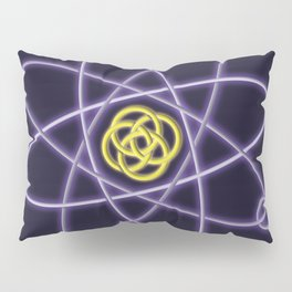 Gold and Silver Atomic Structure Pillow Sham