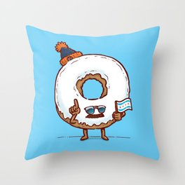 The Chicago Donut Throw Pillow