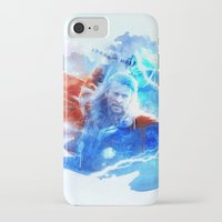 thor iPhone & iPod Cases featuring Thor by Rose's Creation