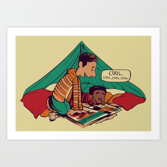 Troy & Abed's Dope Adventures Art Print