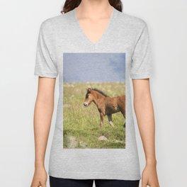Watercolor Horse 33, Icelandic Pony, Höfn, Iceland, Waitttt! Unisex V-Neck
