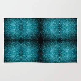 Beautiful Aqua blue glitter sparkles Rug