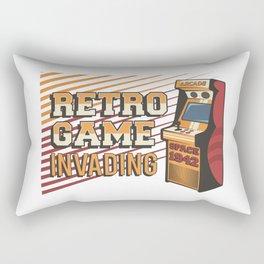 Retro Arcade Video Game Machine Signage Poster Rectangular Pillow