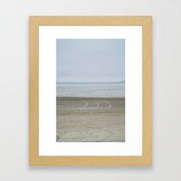 Airport on the beach Framed Art Print