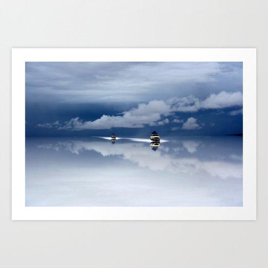 Traveling through the sky Art Print