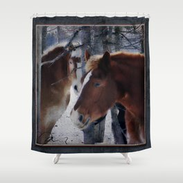 Mackinaw Island Horses Shower Curtain