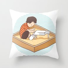 Brian's Sandbox Throw Pillow